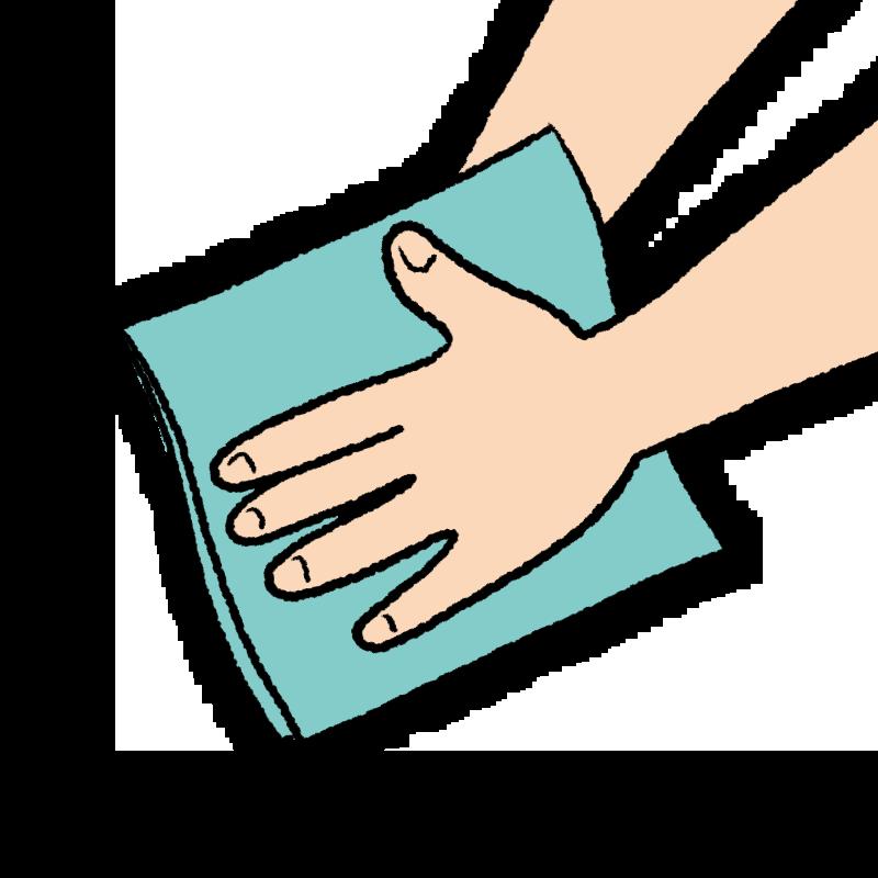 手 手洗い 手を拭く イラスト
