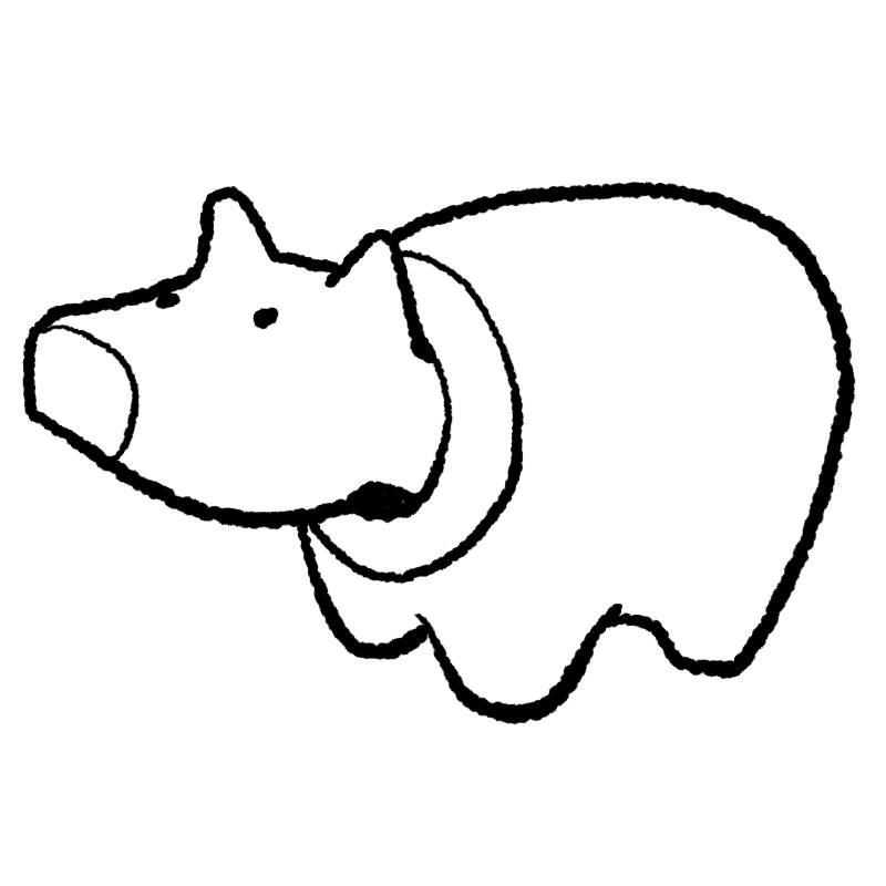 赤べこ ぬり絵 民芸品 福島県 イラスト べこ ベコ