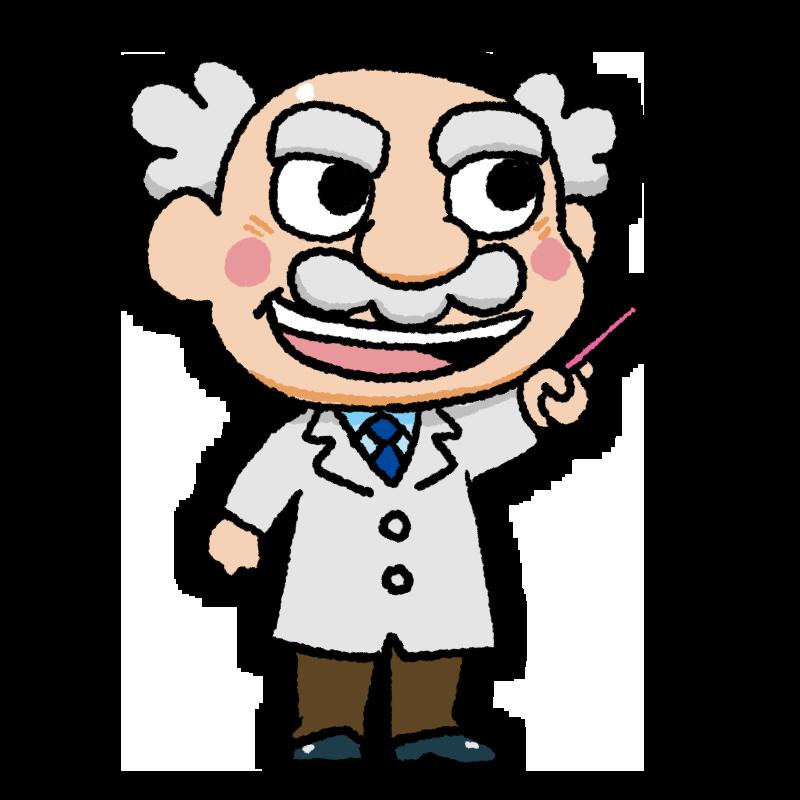 棒指しドクターのイラスト 真顔