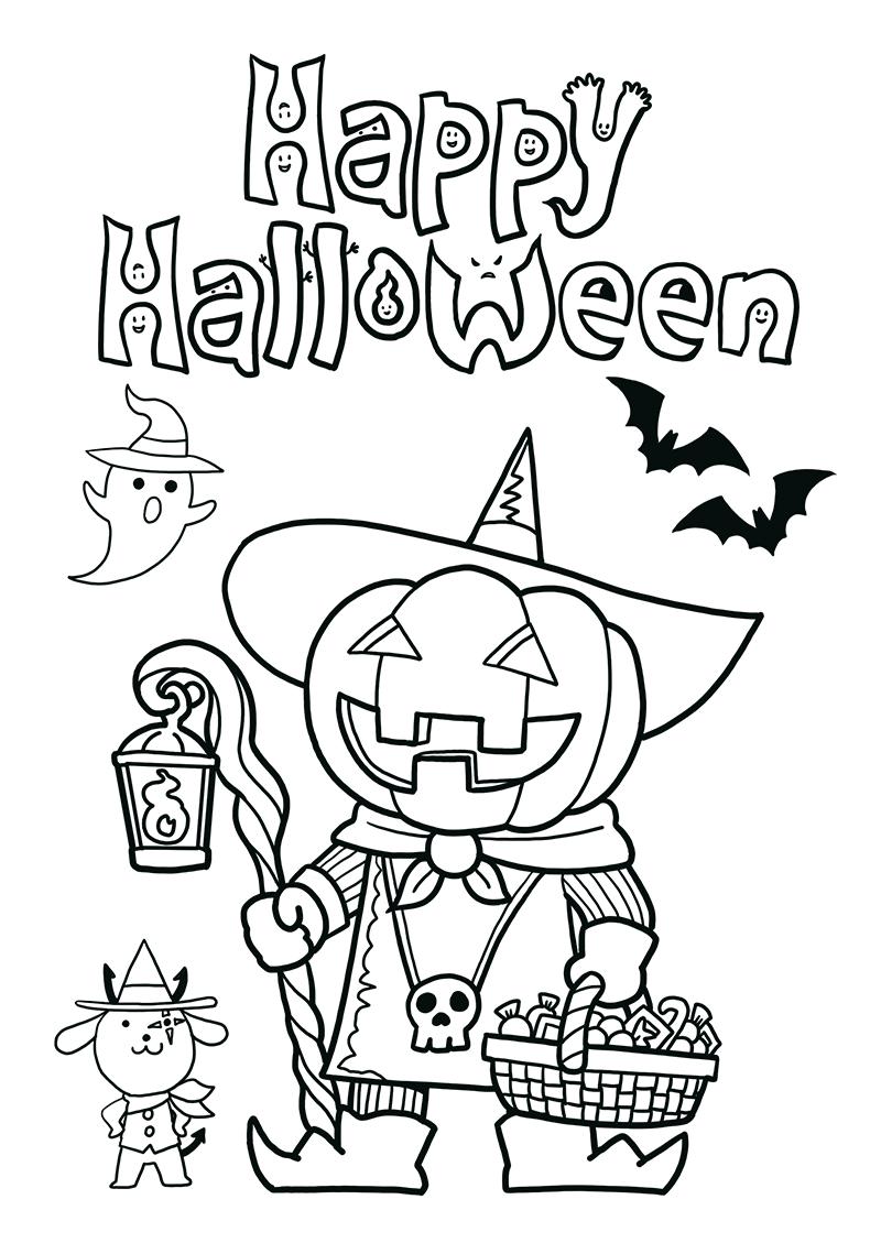 ジャックオーランタン ハロウィン かぼちゃ イラスト ぬり絵