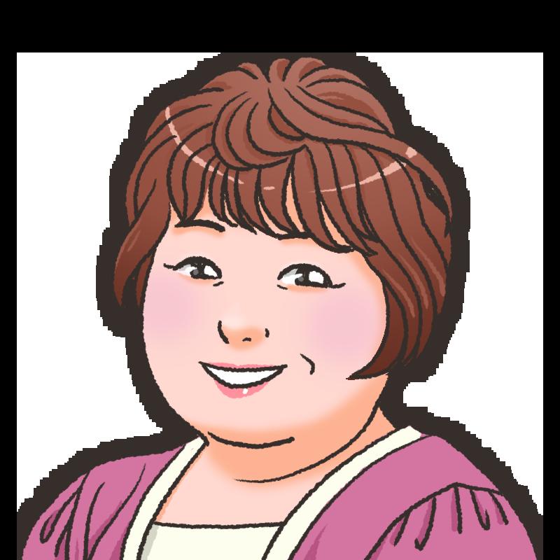 中年女性のイラスト40代 50代 うめこさん