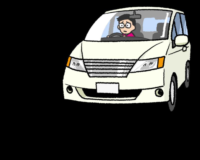 前方の車に迷惑そうにしている車 煽られている車のイラスト