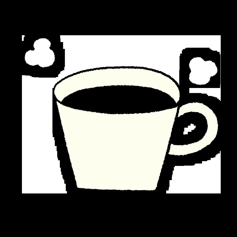ホットコーヒー イラスト