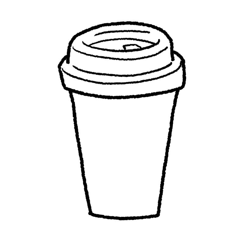 コーヒー イラスト ぬり絵