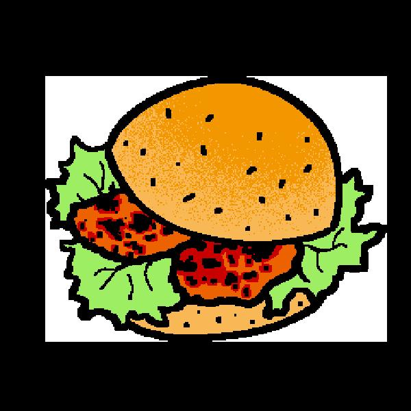 チキンチリバーガーのイラスト