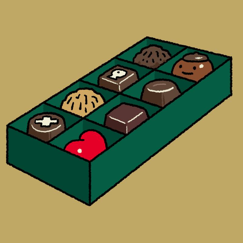 バレンタインデーのチョコのイラスト