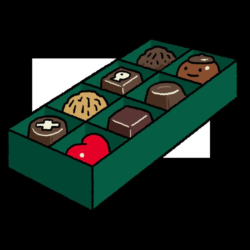 バレンタインのチョコのイラスト(背景なし)
