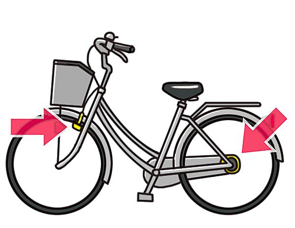 自転車のブレーキを強調したイラスト