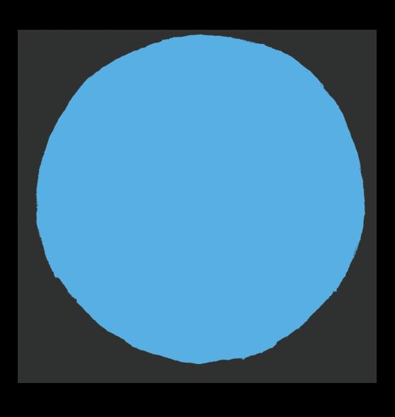 記号 影のある丸のイラスト