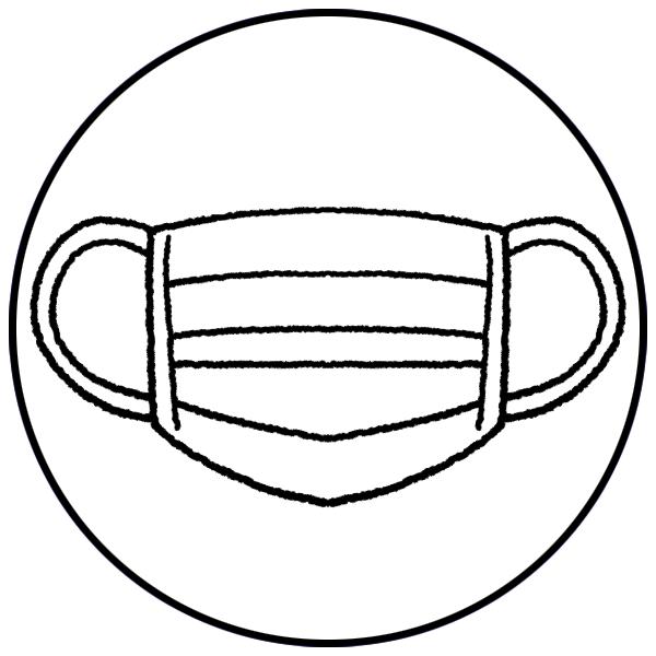 マスクの着用にご協力くださいのイラスト