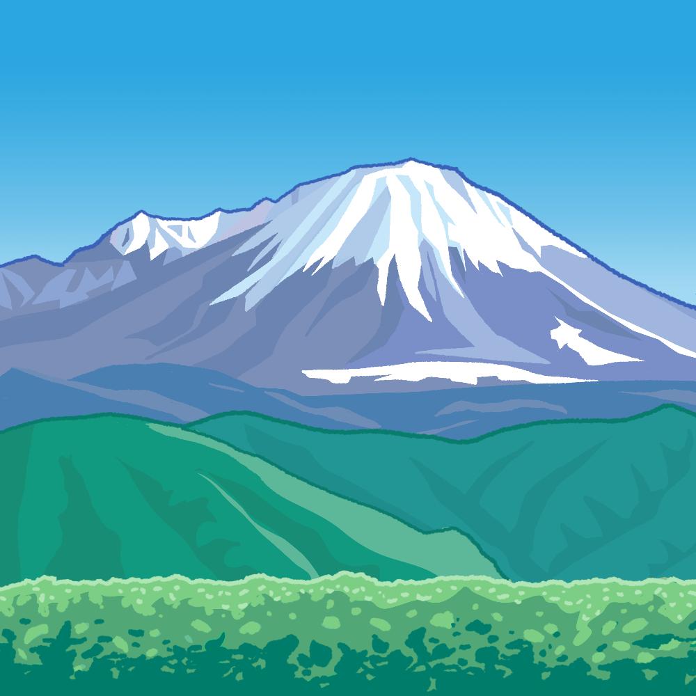 冬の大山のイラスト