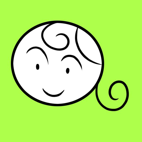 丸い女性の顔のイラスト フリーアイコン