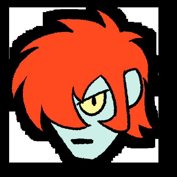 赤い髪の男のイラスト フリーアイコン