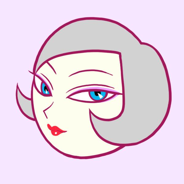 つり目の女性のイラスト フリーアイコン