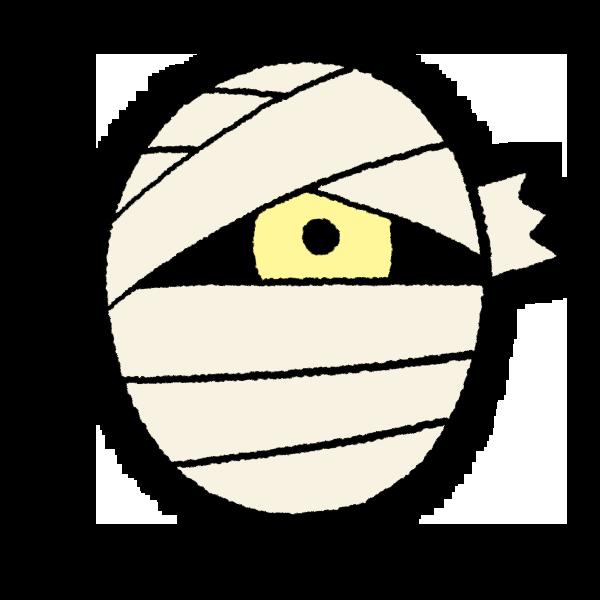 ミイラ男の顔のイラスト フリーアイコン