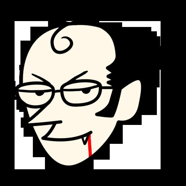 ドラキュラの顔のイラスト フリーアイコン