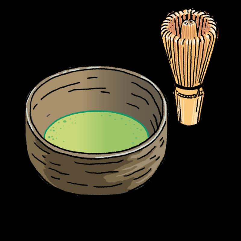 抹茶のイラスト(背景なし)