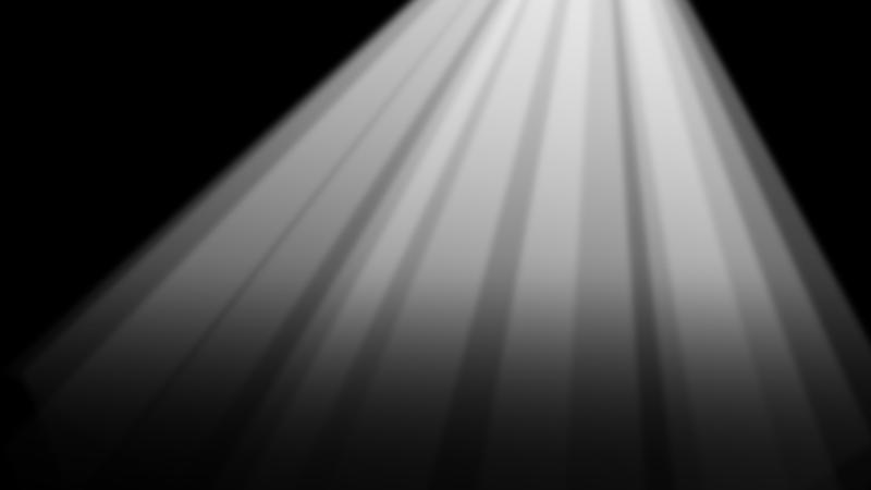薄明光線のイラスト(背景黒)