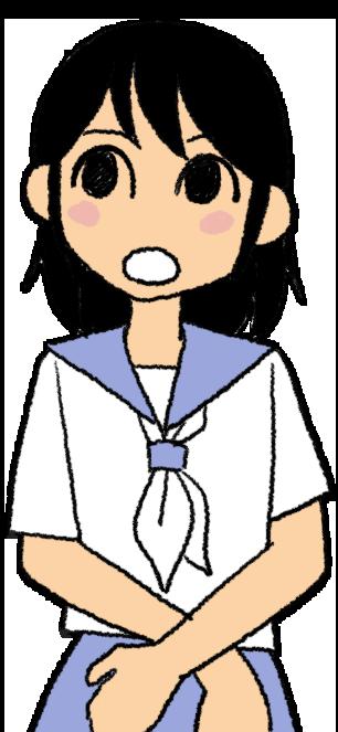 夏服の女子生徒のイラスト