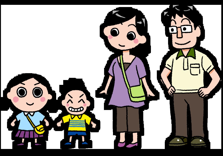 みる子の家族のイラスト