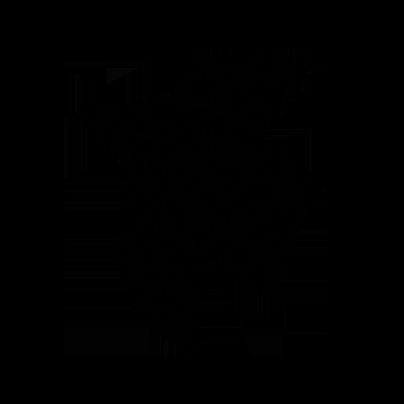 羽ばたく黒い鳥のイラスト
