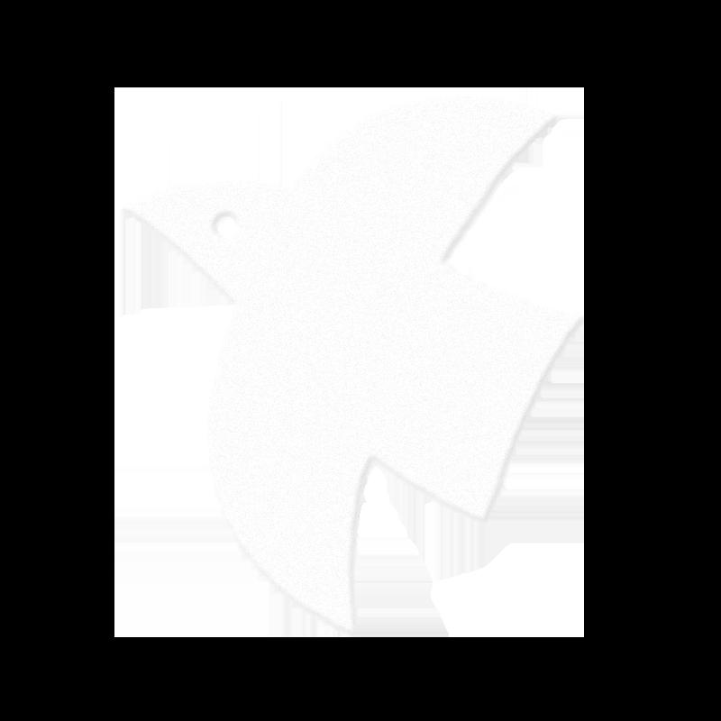 羽ばたく白い鳥のイラスト