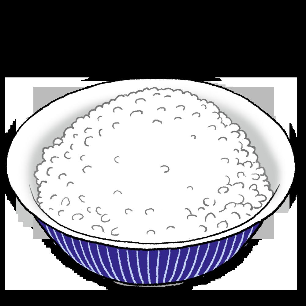 白ご飯のイラスト