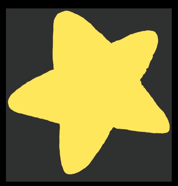 記号 影のある星のイラスト