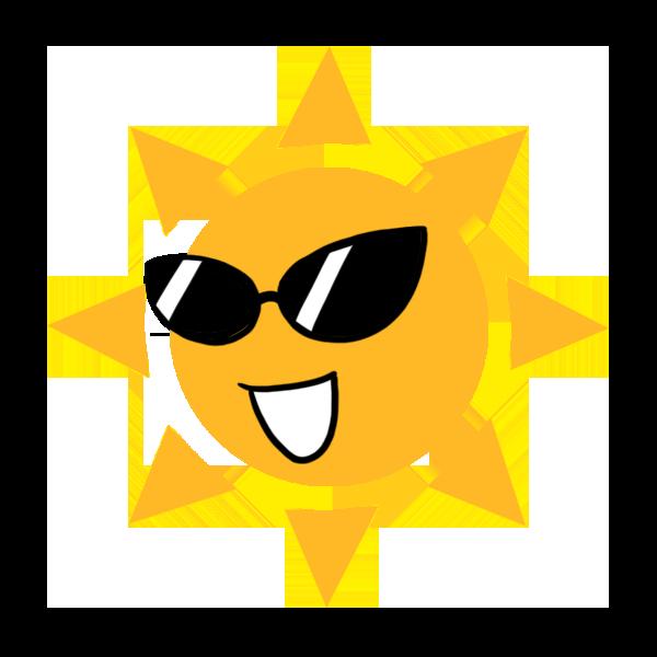 サングラスの太陽のイラスト フリーアイコン
