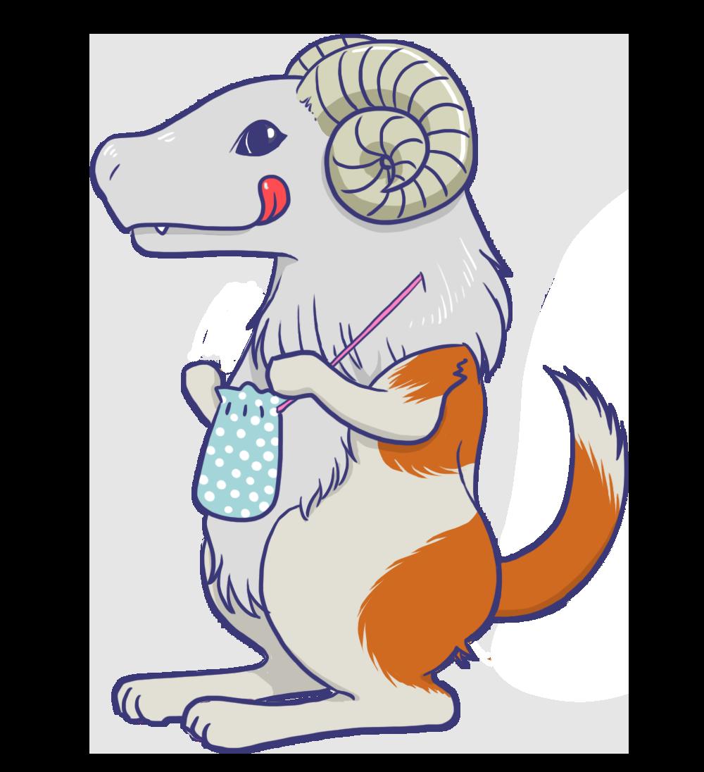 羊頭狗肉のキャラクターのイラスト