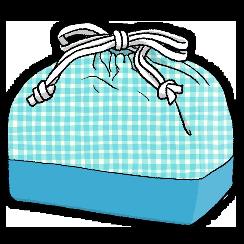 巾着型のお弁当袋のイラスト