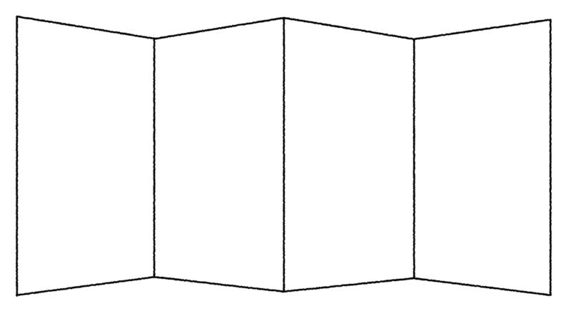 金屏風のイラスト(ぬり絵)