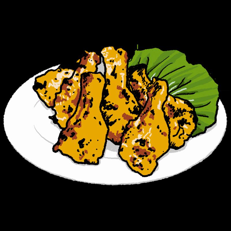 (インド料理)タンドリーチキンのイラスト