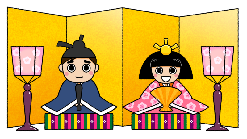 雛飾りのイラスト(背景なし)