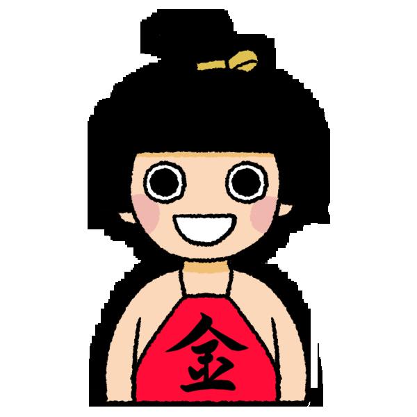 金太郎のイラスト バストショット