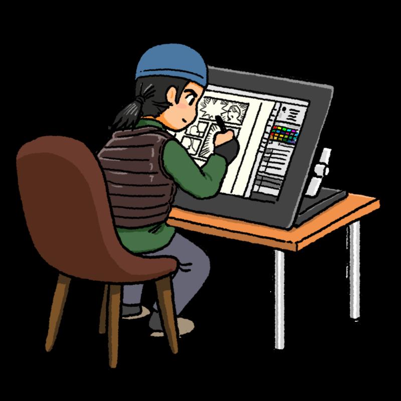 デジタル系漫画家のイラスト