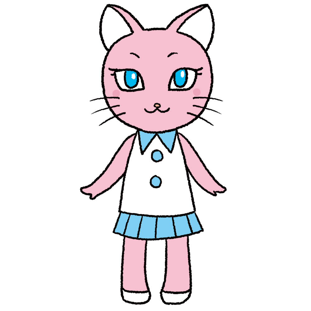 猫キャラのイラスト(擬人化)ニャオミ