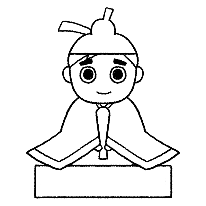 お内裏様のイラスト(ぬり絵)
