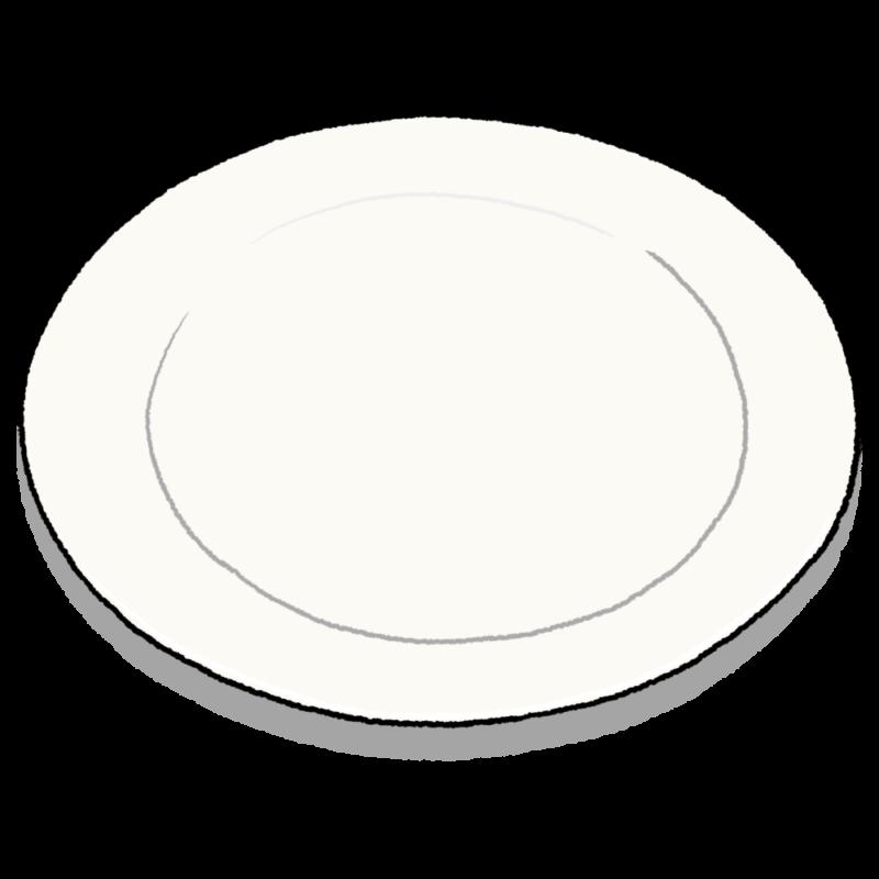 白い皿のイラスト