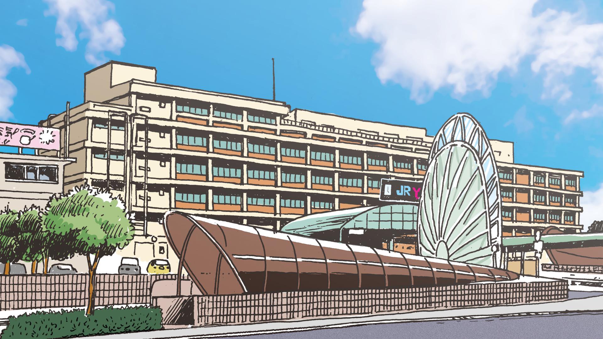 JR米子駅(平成25年ごろ)のイラスト