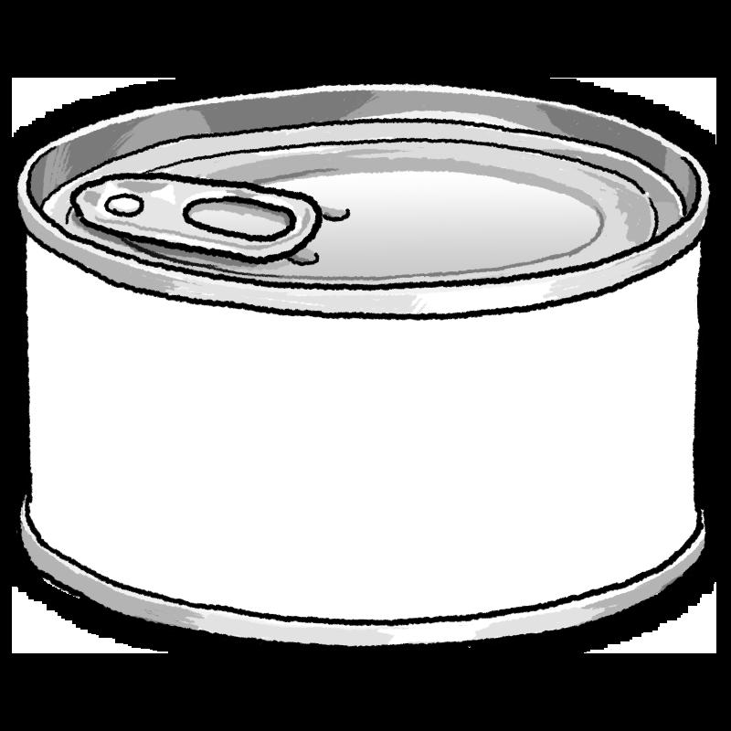 缶詰のイラスト(白)