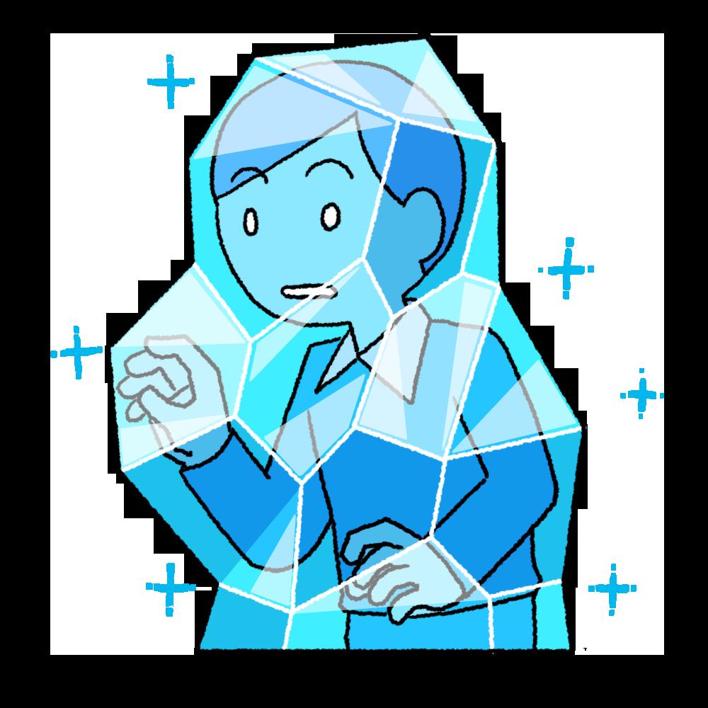 凍りついた人のイラスト