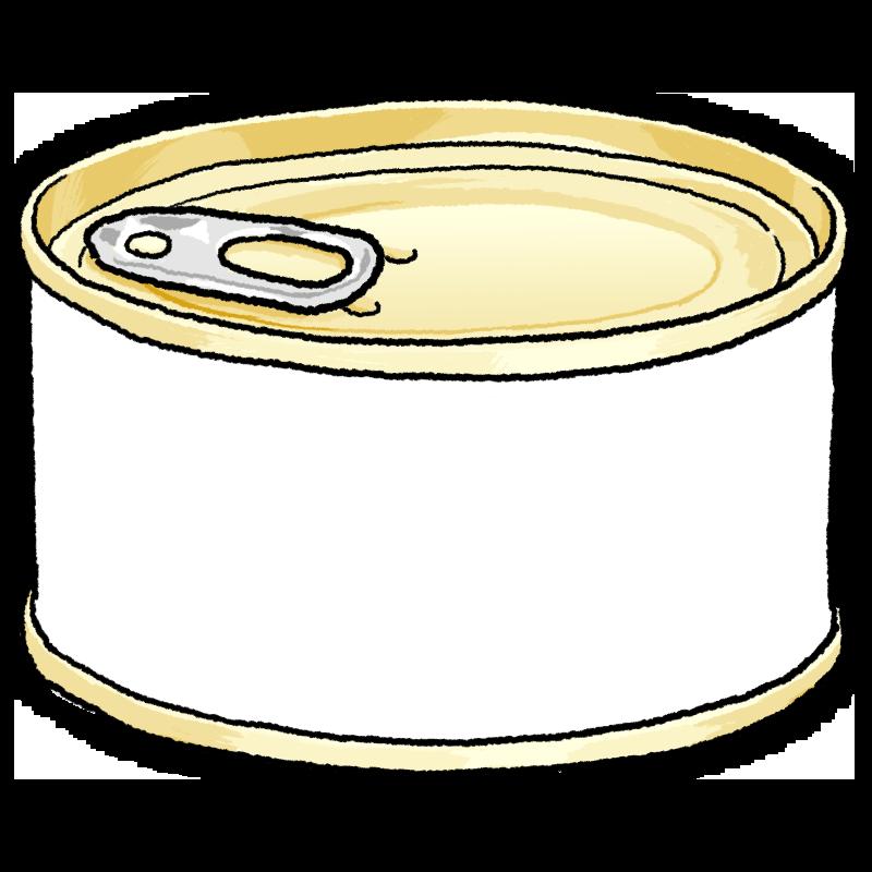 缶詰のイラスト(しろ)金ラベル