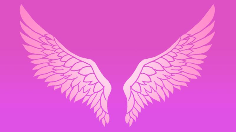翼の背景のイラスト(ピンク)