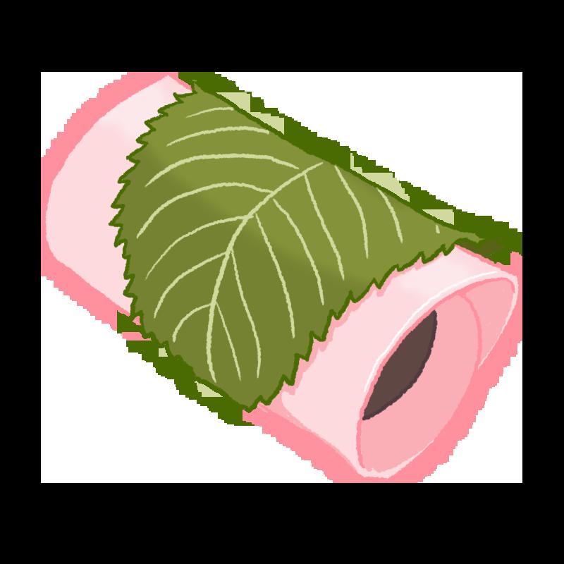 桜餅(長命寺・関東風)のイラスト