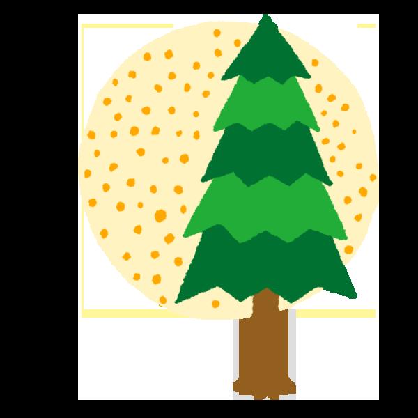 杉の木のイラスト 花粉やや多め