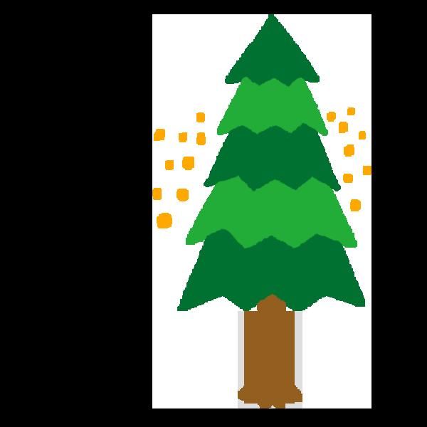 杉の木のイラスト 花粉少なめ
