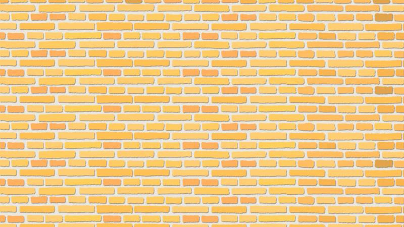 黄色いレンガの背景のイラスト