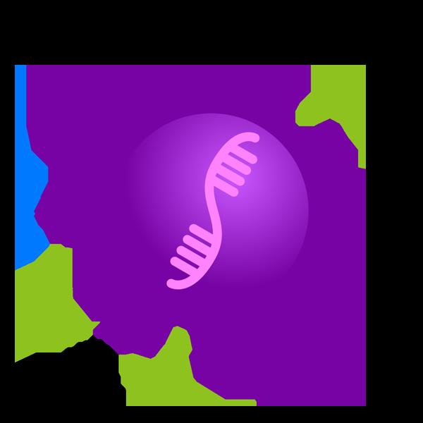 抗体が効きにくく変化したコロナウイルスのイラスト