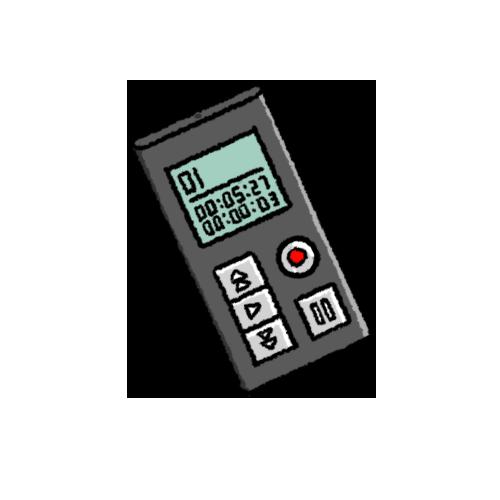 小型ICレコーダーのイラスト